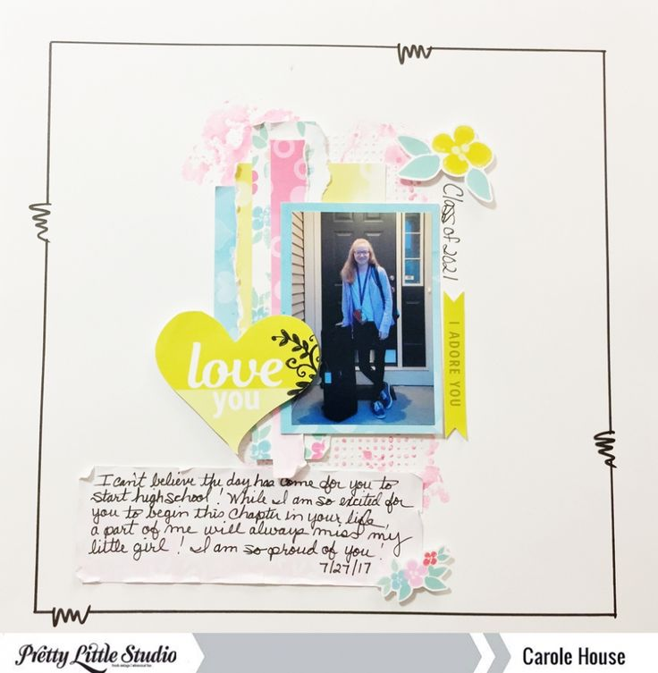 Happy Thursday!  I hope everyone is having a great week!  Today, I am sharing a 12x12 layout using the Blooming Hearts collection by  Zinia Amoiridou.  I love the soft colors and flower die-cuts in this collection!   The photo I used is a photo of my daughter's first day of school as a high…