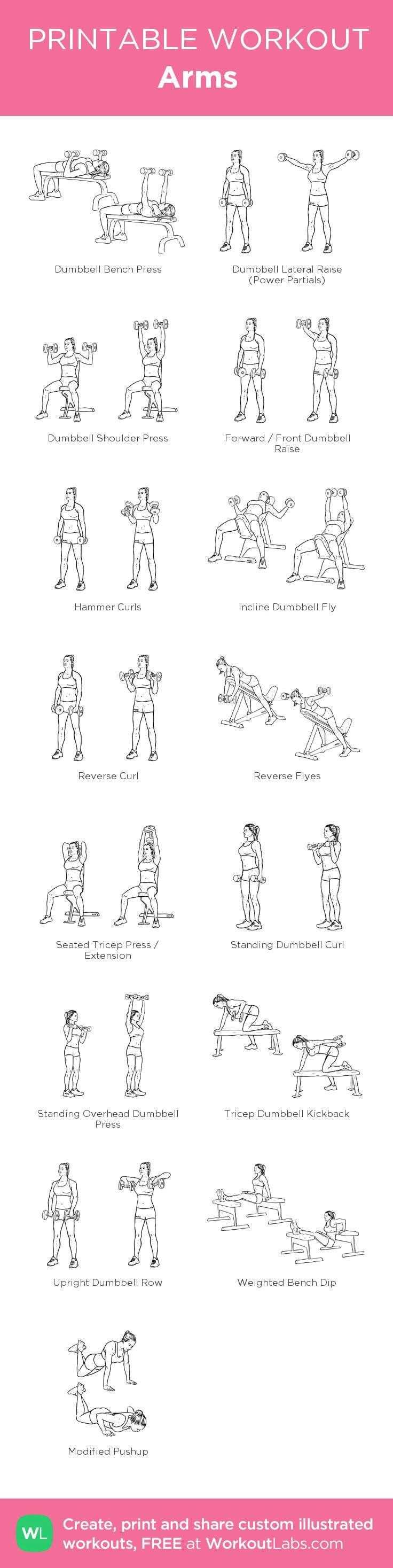 Arms:my custom printable workout by @WorkoutLabs #workoutlabs #customworkout