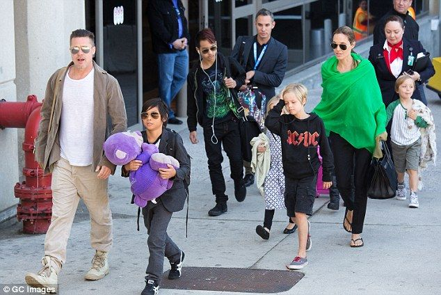 Brad Pitt has filed for joint custody of the six children he shares with Angelina Jolie. He is seen with them in 2014