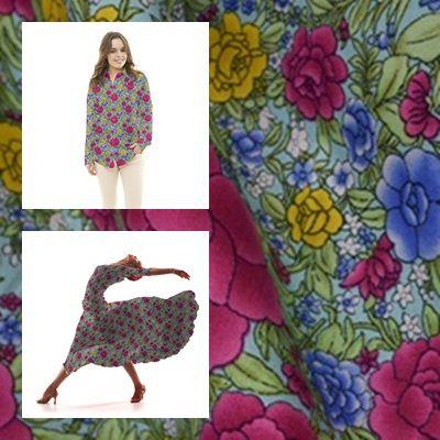 Tela popelín de algodón con estampado floral de claveles fondo agua. Popelín flamenca sostenido y de tacto muy suave, ideal para la confección de trajes de sevillana, vestidos, camisas y faldas. http://www.aleko.kingeshop.com/Popelin-Clavel-dbaaaajGa.asp