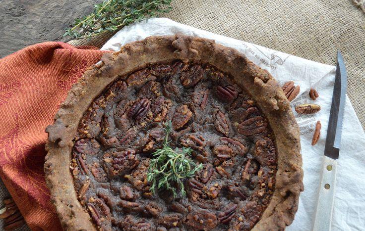 Classic Maple Bourbon Pecan Pie | Vegan | Pinterest