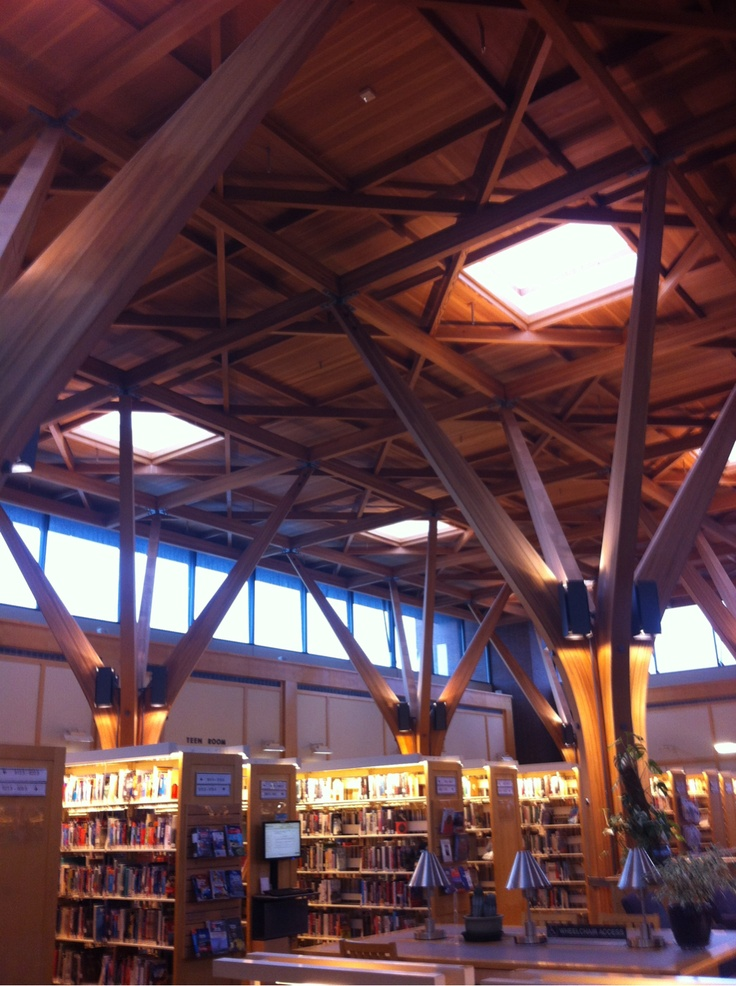 The library I work at is pretty. Especially before it opens.