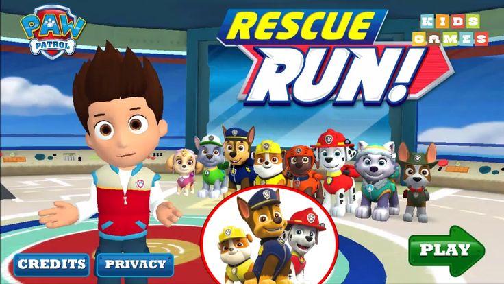 Nickelodeon Games to play online 2017 ♫Paw Patrol Rescue Run 2017 - Episode 1♫ Kids Games