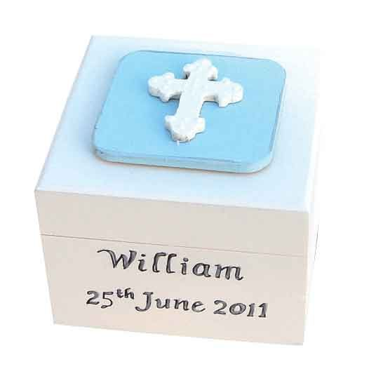 Personalised Boys First Holy Communion Rosary Box - Personalised First Holy Communion Gifts for Godson, Grandson, Son, Nephew, Brother - Keepsake First Communion Presents