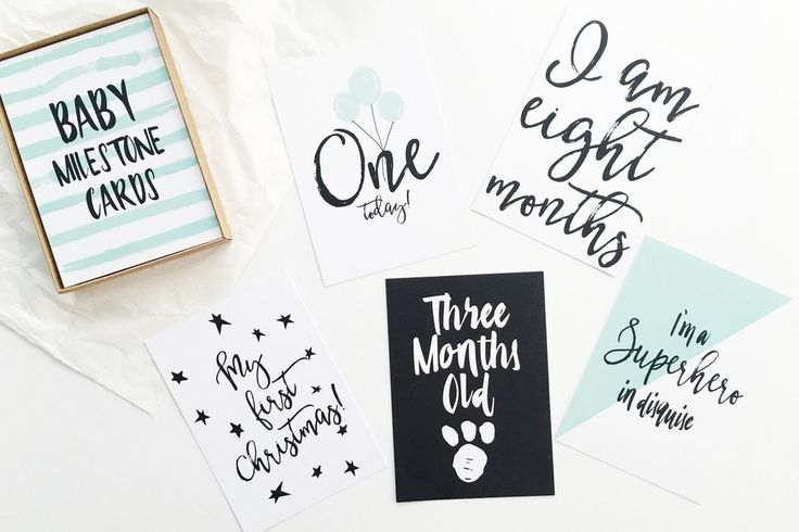 Milestone cards for baby boys or baby girls!