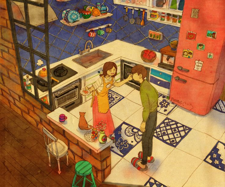 Best Love Illustration By Puung Images On Pinterest - Cute illustrations capture how love is in the small things