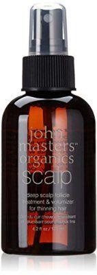 Tratamiento John Masters Organics profunda del cuero cabelludo folículo y voluminizador para el adelgazamiento del cabello, suero de cabello para cabello fino 125ml