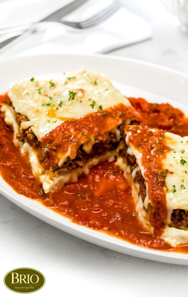 Recipe for Lasagna Bolognese Al Forno from BRIO Tuscan