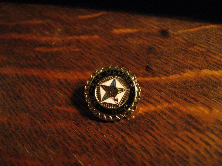 Order Of The Eastern Star Lapel Pin - Masonic Lodge Iowa USA 50 Year Member Pin