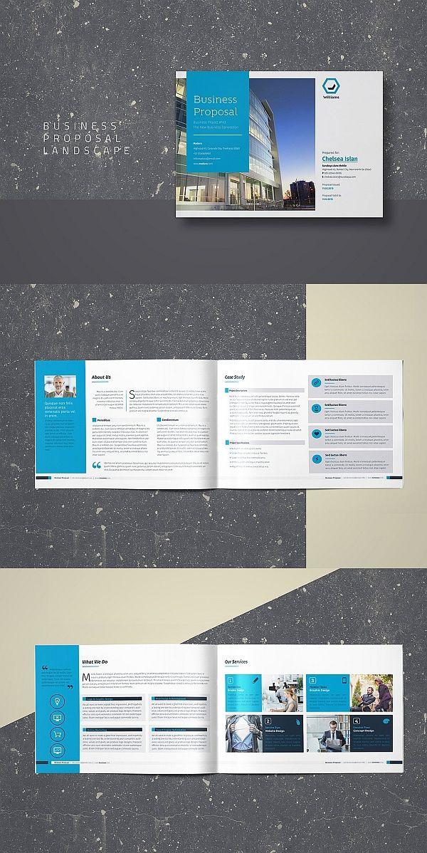 Business Proposal Landscape Book Design Layout Booklet Design Proposal Design