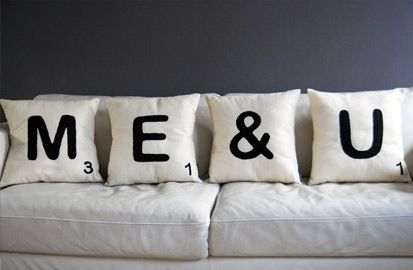 Me & YouIdeas, Games Room, Christmas Presents, Living Room, Scrabble Tile, Cushions Covers, Throw Pillows, Couch Pillows, Scrabble Letters