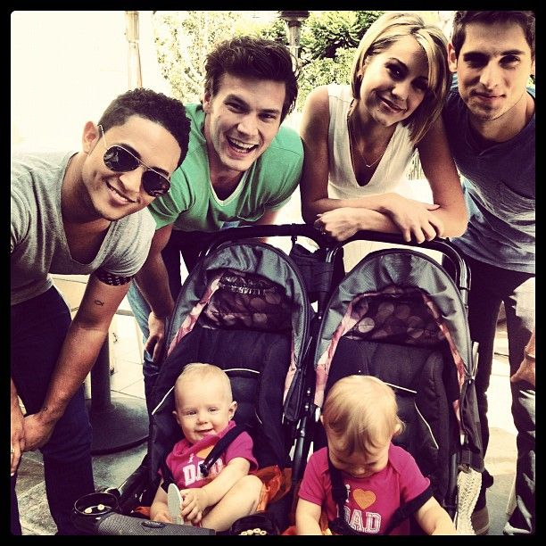 Baby Daddy Cast, Tahj Mowry, Derek Theler, Chelsea Kane, Jean-Luc Bilodeau, and the twins who play Emma