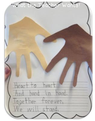 Handprint Heart Craft For MLK Jr
