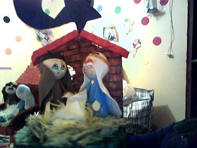 pecebre niño dios en plumavid y goma eva  mis manualidades