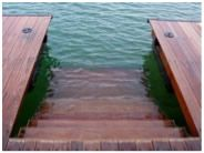 Kroeger Marine has SwimEze: broad easy steps that descend into the lake water.
