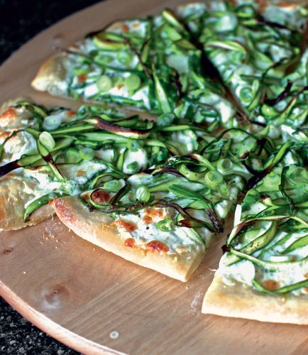 This shaved asparagus pizza from The Smitten Kitchen Cookbook is a ...