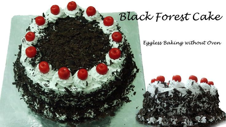 Traditional Black Forest Cake Recipe Without Oven - Cooker Cake | Eggless Baking without Oven, ,