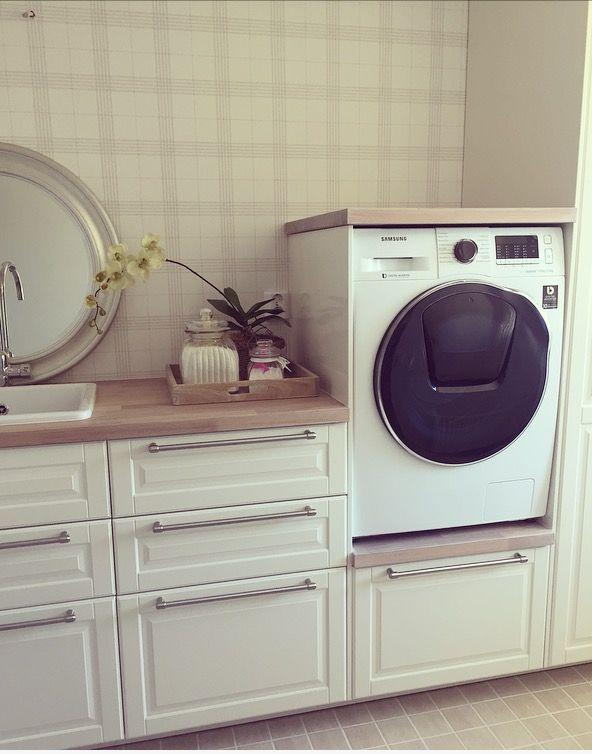 Laundryroom, samsung drying washing machine with addwash function