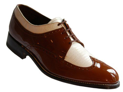Amazon.com: Stacy Baldwin Brown White Wingtip Two Tone Spectator Shoes for Men (10.5D)