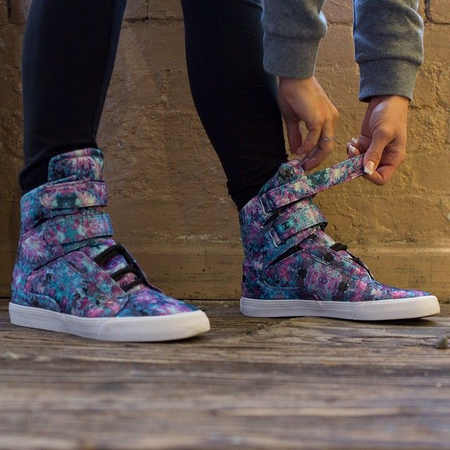 Fly kicks for fly chicks. Step up your game with Supra Footwear.