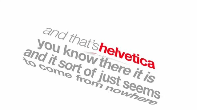 Helvetica-Kinetic Typography by Jon DeBoer. Kinetic Typography animation using quotes from the movie Helvetica.