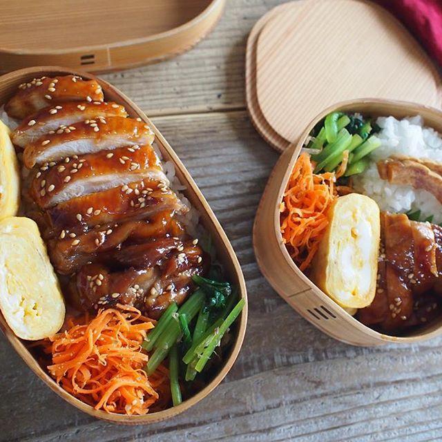 2015.10.15#お弁当  鶏照り煮丼☺︎ ・・ #弁当#obento#bento