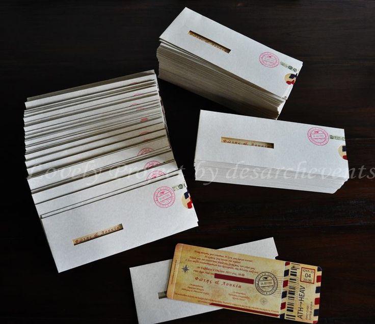 air tickets wedding invitations