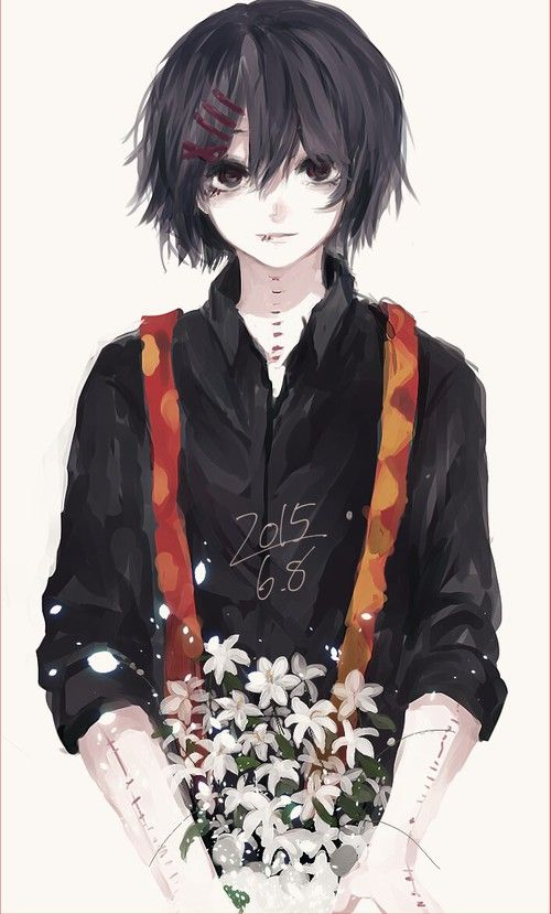 Suzuya Juuzou ~ Tokyo Ghoul with black hair •^• anime manga
