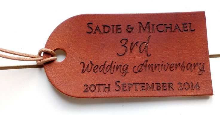 Leather 3rd Anniversary Gift - Personalised Luggage Tag or keyring