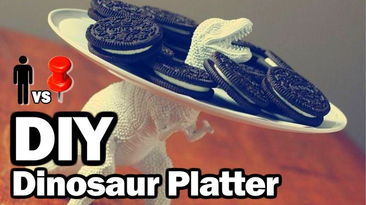 FAIL: DIY Dinosaur Platter - Man Vs. Pin   - hint- the dinosaur wins, and duct tape 'saves' the day! ROFL!