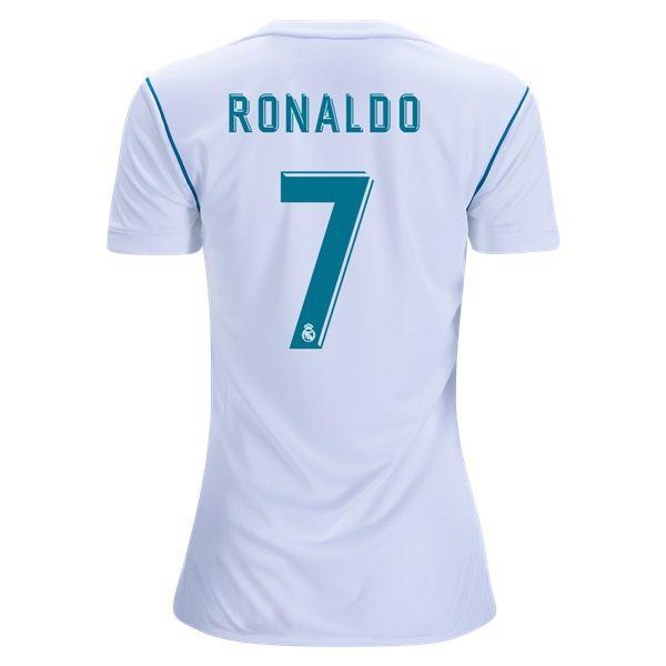 2017 Cristiano Ronaldo Jersey Number 7 Home Women S Real Madrid Team Cristiano Ronaldo Jersey Ronaldo Jersey Ronaldo