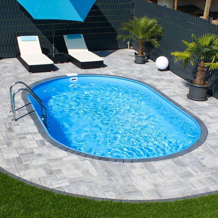 Steel wall oval pool POOLSANA HQ 6.00 x 3.20 x 1.50 m PROFI set