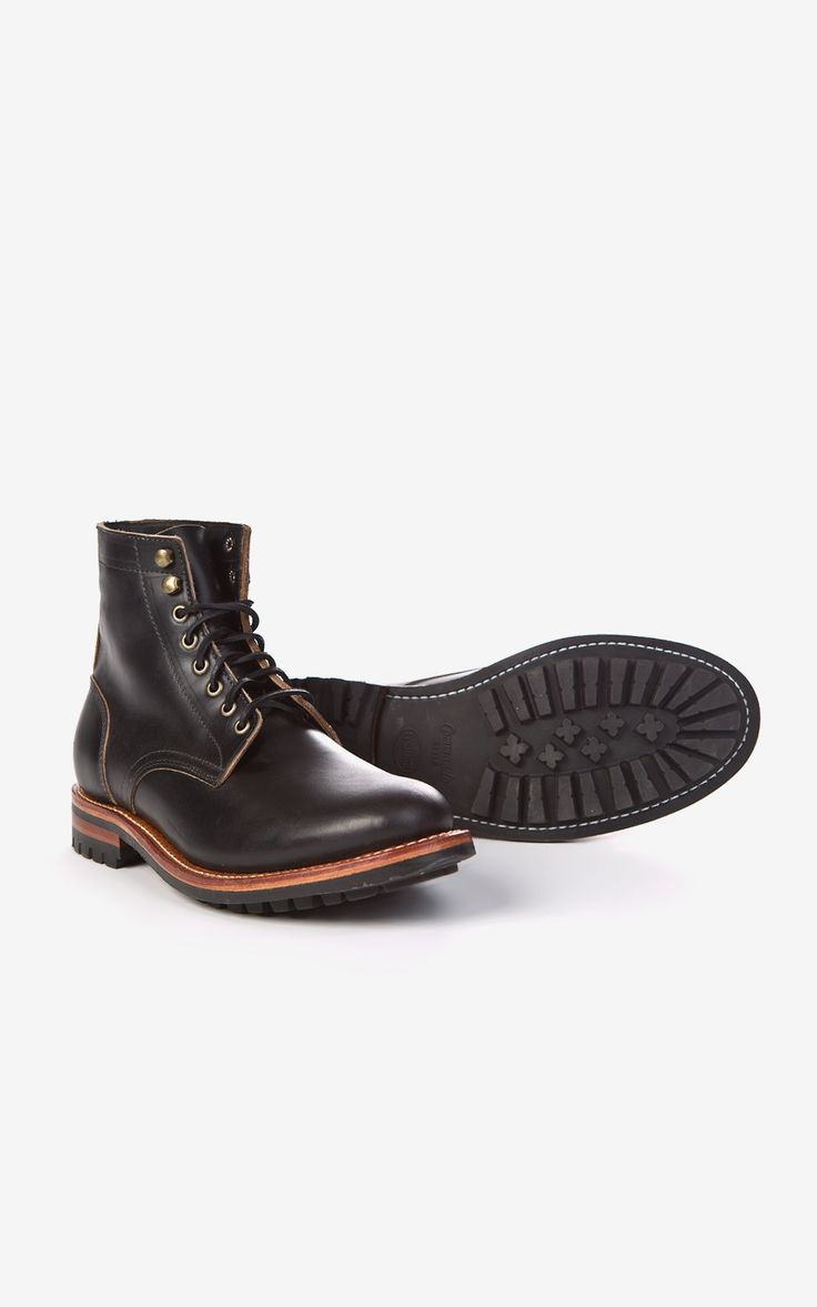 RAW Denim, Shoes and Accessories Online · CULTIZM Online-Shop - Commando Trench Boot Black Chromexcel Oak Street Bootmakers Commando Trench Boot Black Chromexcel Commando Trench Boot Black