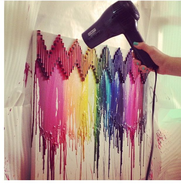 Creative Idea For A Melting Crayon Project