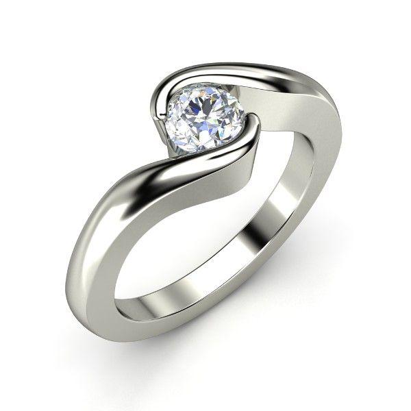 Round Diamond 18K White Gold Ring - Embrace Ring | Gemvara