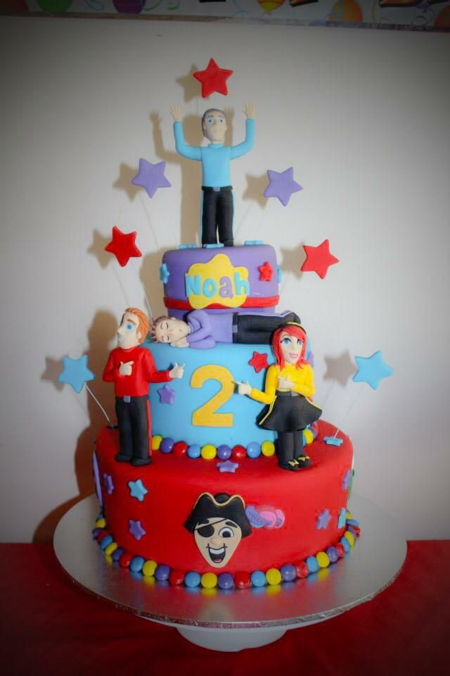 Even an icing version of Lachy is asleep! #thewiggles #wigglyparty #wigglescake #cake