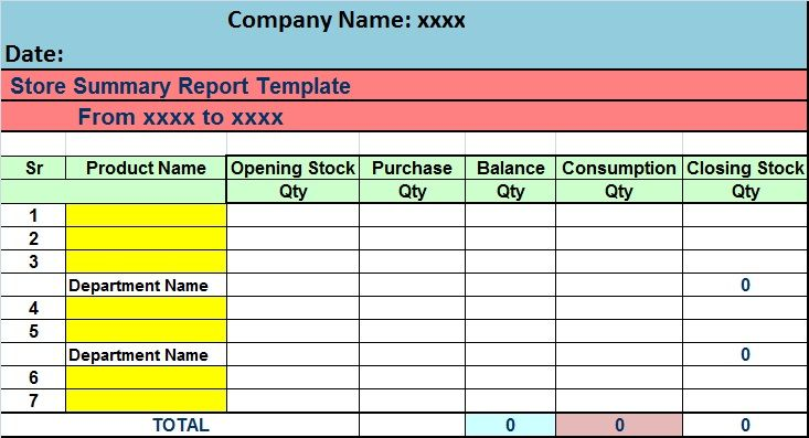 Download Store Stock Take Excel Format Excel Perks Online Free Excel Templates Tips Report Template Stock Analysis Good Essay
