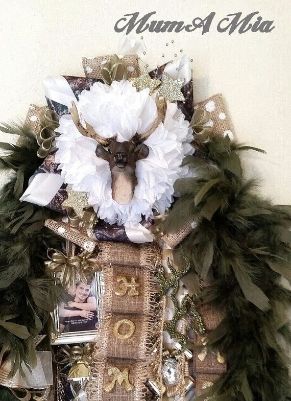 Camo homecoming mum. Perfect for a hunter.
