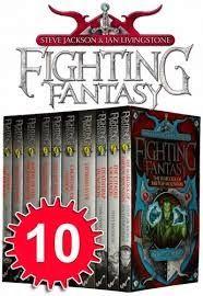 Memerangi Fantasy Series 10 Buku Set Pack Bloodbones, Kota Pencuri, Creature dari Havoc, Deathtrap Dungeon, Eye of the Dragon, House of Hell, Stormsl