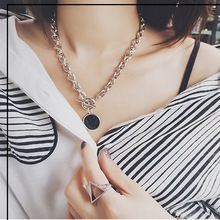 2016 Hot Europe Style Fashion Personality Marble Grain Chunky Short Chain Necklace Pendant Necklace For Girls Fshion (China (Mainland))