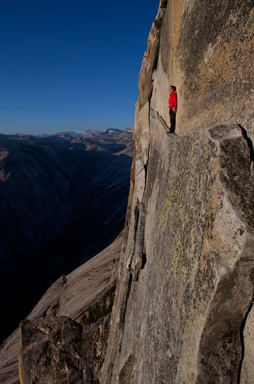 Extreme rock climber Alex Honnold tackles cliff faces around the globe