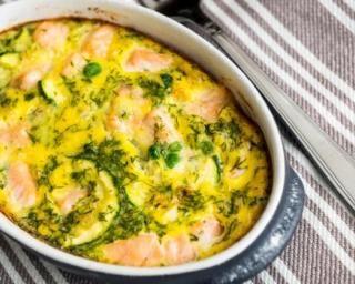 Clafoutis de saumon aux poireaux