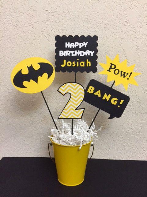 Batman Super Hero Centerpiece by TheGirlNXTdoor on Etsy