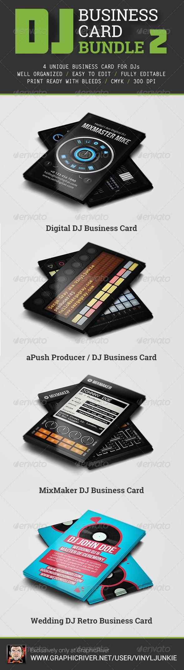 Wonderful Dj Business Card Gallery - Business Card Ideas - etadam.info