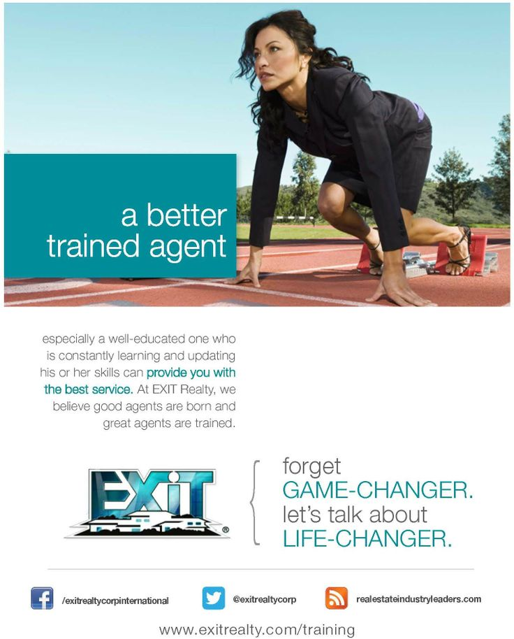 At EXIT Realty, we believe that good agents are born, and GREAT agents are trained!
