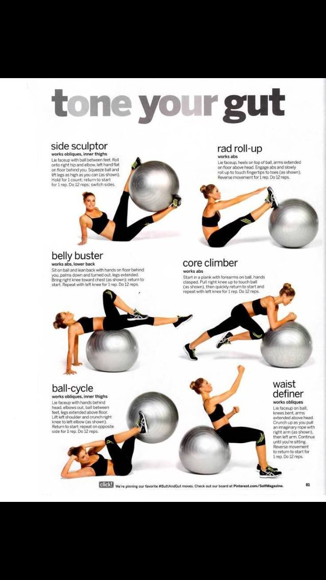 Never really knew how to incorporate the ball in my workouts. Here ya go