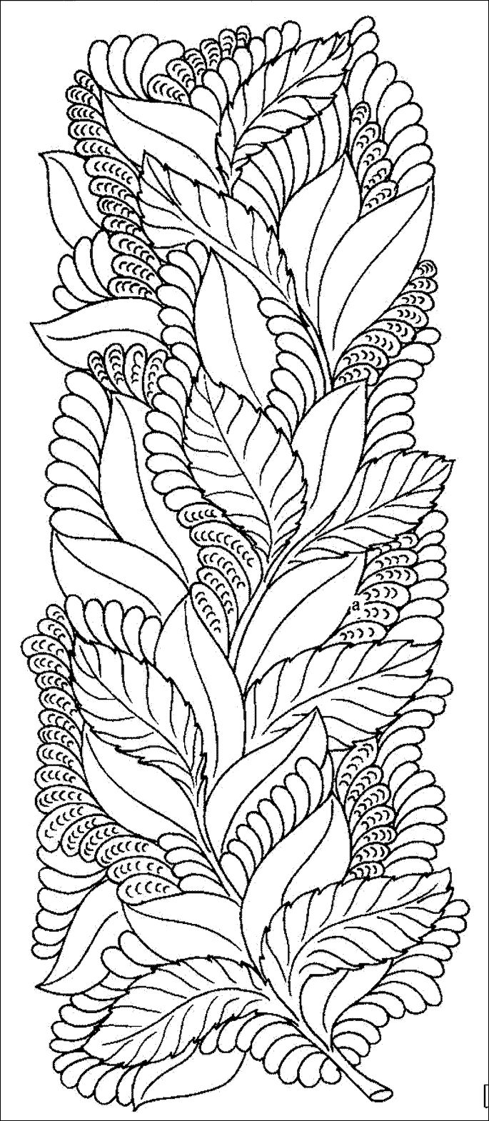 leaf coloring pages for adults - photo#10