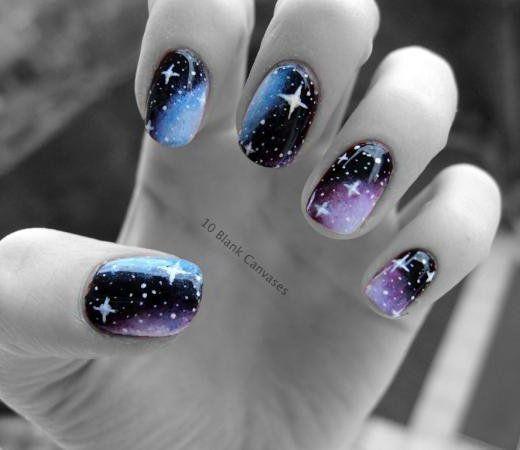 17 Stunning Star Nail Designs for Fashionistas; #13. Cool Star Nail Design - The 25+ Best Star Nail Designs Ideas On Pinterest Star Nail Art