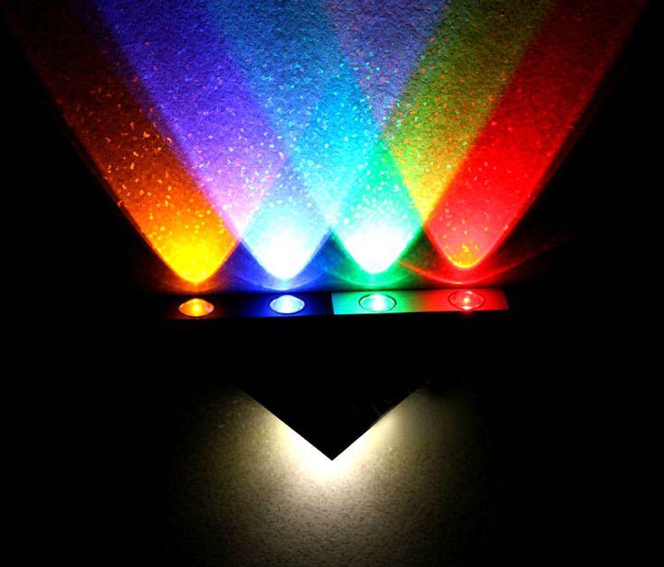 2 Stück Aluminium LED-Deko RGB Wand-Lampe  Art Deko-Stiel ! *Schönes Ambiente*