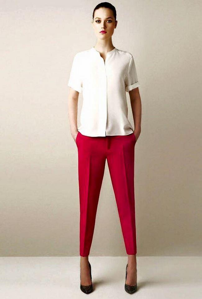 с чем носить красные брюки - Поиск в Google